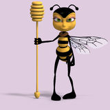 Very sweet render of a honey bee in yellow and bla Stock Photos