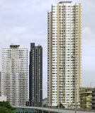 Very tall condominium in Bangkok, Thailand. It look modern Royalty Free Stock Photos