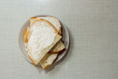 Very tasty sandwich with butter royalty free stock images