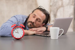 Very tired businessman Royalty Free Stock Photos