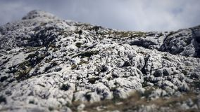 Top of a Peak within the Biokovo Mountains on the Way to the Sveti Jure in Makarska, Croatia royalty free stock images