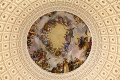 The very top of the Rotunda or Dome of the Capitol Building. The amaxzng inside of the Dome of the Capitol Building Royalty Free Stock Image
