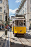 Very touristic and busy downtown Lisbon Stock Photo