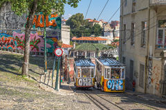 Very touristic place in downtown Lisbon, Portugal - Europe Stock Photography