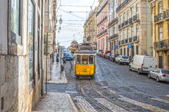 Very touristic place in downtown lisbon, Europe Stock Photography