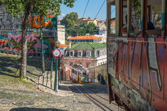 Very touristic place in downtown Lisbon  Stock Photo