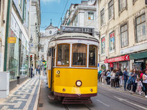Very touristic place in Lisbon, Portugal Stock Photos