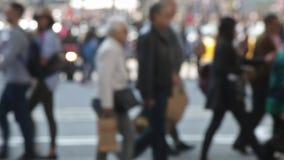 Very Unfocused pedestrians.(05) stock video