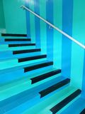 The very unique design of the staircase in a shopping mall. Very unique design staircase shopping mall pattern blue black stock photography