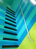 The very unique design of the staircase in a shopping mall. Very unique design staircase shopping mall pattern blue black stock image
