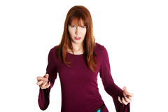Very upset and angry woman Royalty Free Stock Photography