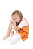 Very upset little girl Royalty Free Stock Photo