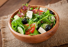 Very useful and diet salad of herbs Stock Photo