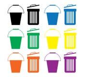 Very Useful Flat Icon of Bucket Stock Image