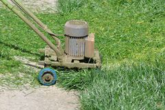 Lawn Mower invention. Very useful invention of a electric lawn mower royalty free stock photo