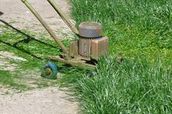 Lawn Mower invention. Very useful invention of a electric lawn mower royalty free stock image