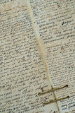 Very useful he old book. The old manuscript. Seamless old letter texture. Very useful, he old book. The old manuscript Royalty Free Stock Photos