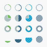 Very useful pie chart and percent flat vector desi Stock Photos
