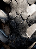 Very wear and tear old tire surface. Texture of very wear and tear old tire surface Royalty Free Stock Images