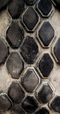 Very wear and tear old tire surface. Texture of very wear and tear old tire surface Royalty Free Stock Image