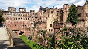Very well preserved castle and cathedral nested stock photos