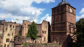Very well preserved castle and cathedral nested stock photo