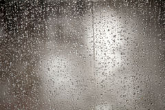 Very wet window during downpoar Stock Image