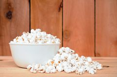 A very white puffed popcorn Stock Image