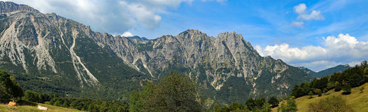 Very wide wonderful  landscape of Veneto s  foothills in the pro. Wonderful landscape of Veneto s foothills in the province of Vicenza in Italy Stock Photography