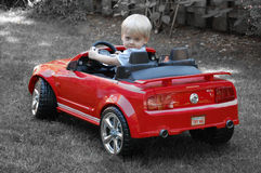 Very Young Driver Royalty Free Stock Image