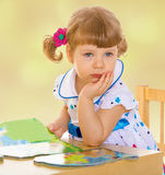 Very young little girl Stock Images