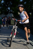 Very young triathlete. Royalty Free Stock Photos