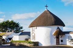 Veryan Round Houses Royalty Free Stock Photography