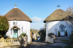 Veryan Round Houses Royalty Free Stock Images