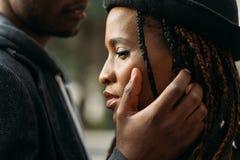Verzacht Aanraking Tedere liefdeverhouding stock afbeeldingen