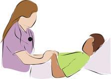 Verzachtende zorg, artsenzorg stock illustratie