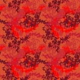 Verzadigde rode UFOcamouflage Stock Afbeeldingen