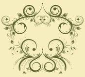 Verzamel bloemgrens royalty-vrije illustratie