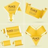 Verzamel de Banner van de Origami van het Document Royalty-vrije Stock Afbeeldingen