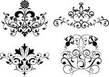 Verzamel element voor ontwerp, vastgestelde bloem, vector Royalty-vrije Stock Foto