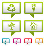 Verzamel het Pictogram van het Milieu Stock Afbeelding
