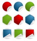 Verzamel Sticker vector illustratie