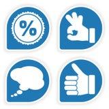 Verzamel Sticker met het Pictogram van de Hand Stock Fotografie