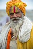 Verzamelen zich van de Wereld van India Kumbh Mela- het Grootste Menselijke Royalty-vrije Stock Afbeelding
