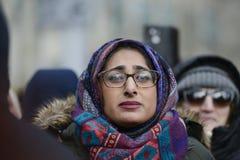 Verzameling tegen het Moslimverbod van Donald Trump ` s in Toronto Stock Foto