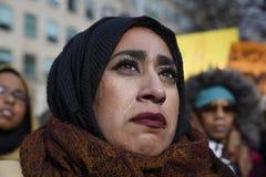 Verzameling tegen het Moslimverbod van Donald Trump ` s in Toronto Royalty-vrije Stock Foto