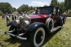 Verzameling van Rolls Royce en andere luxeauto's in Asheville Noord-Carolina de V.S. Royalty-vrije Stock Foto's