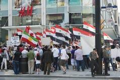 Verzameling voor Syrische Vrijheid in Toronto Stock Fotografie