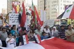 Verzameling voor Syrische Vrijheid in Toronto Stock Foto