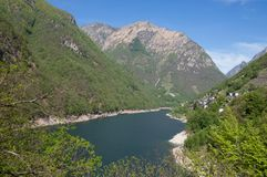 Verzasca Reservoir,Lavertezzo,Ticino Stock Photography